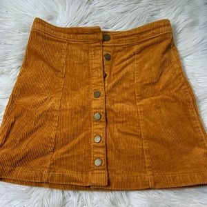 Forever 21 orange/ yellow skirt with Buttons